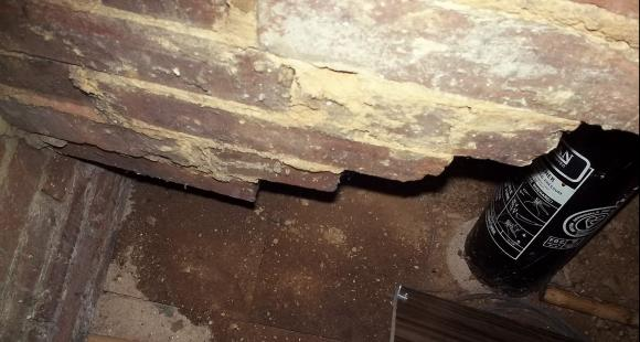 Damp in chimney in loft