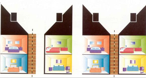Party Wall schematic 1 houses