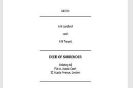 Deed of Surrender